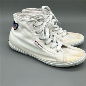 Superga high top American flag heart sneakers